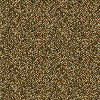 Tissu percale liberty orange et noir oekotex 150 cm