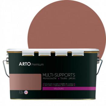 Peinture arto premium multi - supports murs, plafonds, boiseries, plinthes et radiateurs bouton de rose velours 2,5 L