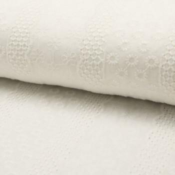 Tissu broderie écru 150 cm