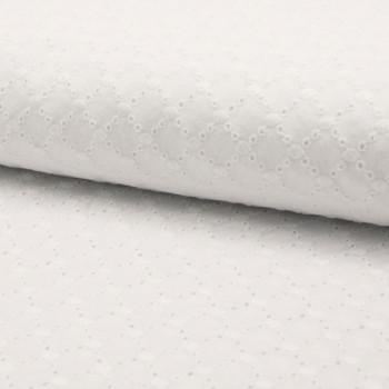 Tissu broderie blanc 150 cm