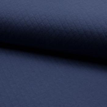 Tissu double jersey piqué bleu marine oekotex 150 cm