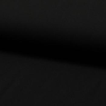 Tissu viscose uni noir 140 cm