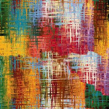 Tissu jacquard gobelin multicolor 140 cm