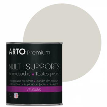Peinture arto premium multi - supports murs, plafonds, boiseries, plinthes et radiateurs blanc minéral velours 0,5 L