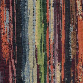 Tissu jacquard imprimé rayures multicolor 140 cm