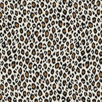 Tissu percale imprimé léopard oekotex 150 cm