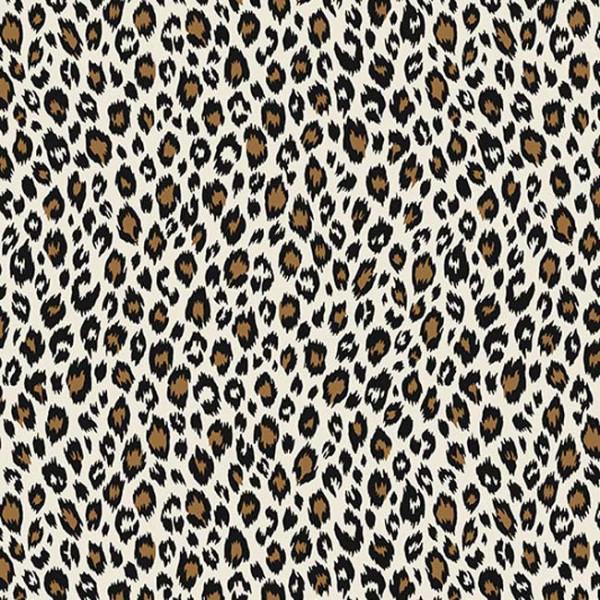 Tissu percale imprimé léopard oekotex...