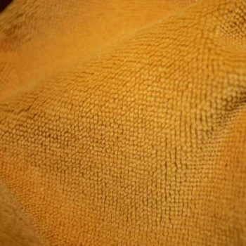 Tissu éponge uni jaune safran oekotex 150 cm
