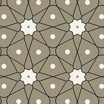 Tissu cretonne géométrique beige oekotex 160 cm