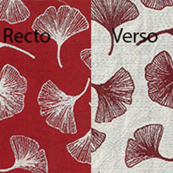 Tissu jacquard rouge imprimé feuille 140 cm