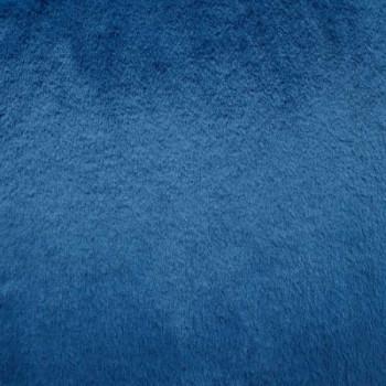 Tissu fausse fourrure bleu 140 cm