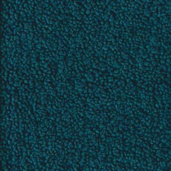 Tissu fausse fourrure effet mouton bleu canard 140 cm