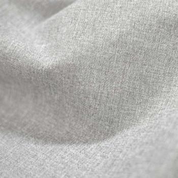 Tissu toile occultant gris clair effet chiné 150 cm