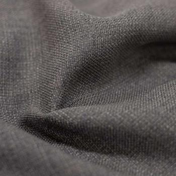 Tissu toile effet chiné occultant gris foncé 140 cm