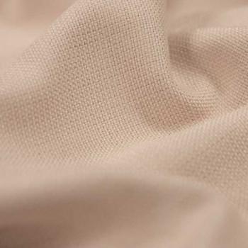 Tissu toile effet chiné occultant rose clair 140 cm
