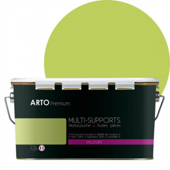 Peinture arto premium multi - supports murs, plafonds, boiseries, plinthes et radiateurs végétal velours 2,5 L