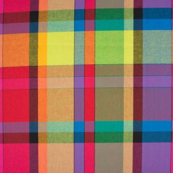 Tissu tissé teint carreaux multicolor 140 cm