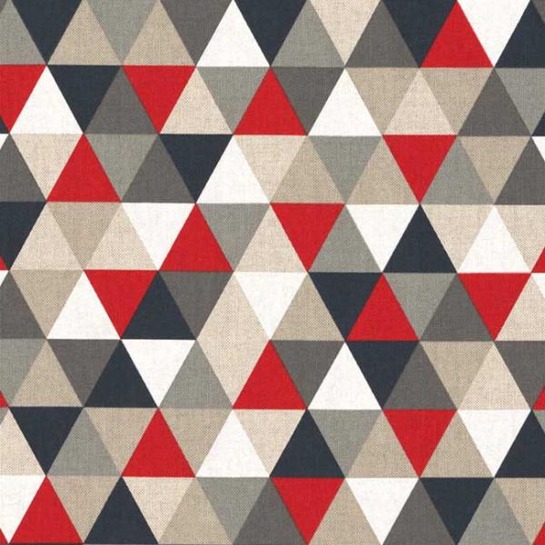 Tissu bachette imprimé géométrique...