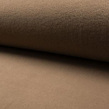 Tissu polaire uni taupe 150 cm