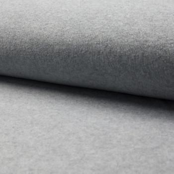 Tissu polaire uni gris chiné 150 cm