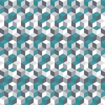 Sous-nappe imprimé géométrique bleu canard 140 cm