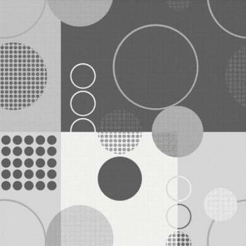 Sous-nappe imprimé géométrique gris 140 cm
