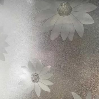 Cristal transparent relief floral 140 cm