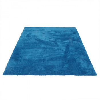 Tapis microfibre bleu 160 x 230 cm