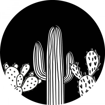 Tapis enfant rond Cactus 90 cm