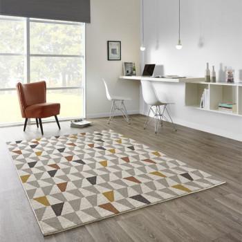 Tapis géométrique triangles 160 x 230 cm
