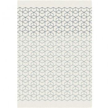 Tapis géométrique cubes en 3D 120 x 170 cm