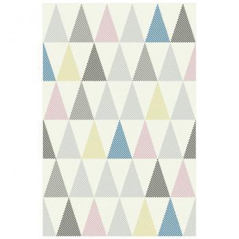 Tapis berbère motif triangles 120 x 170 cm