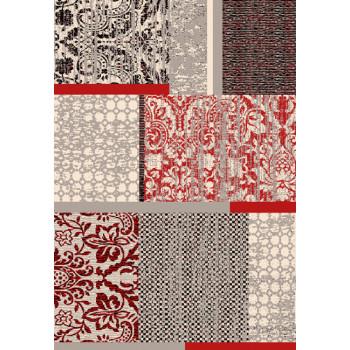 Tapis patchwork rouge 160 x 230 cm