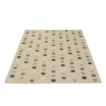 Tapis haut de game structuré écru 160x 230 cm