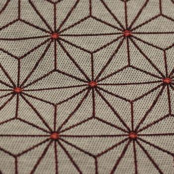 Tissu jacquard tissé-teint géométrique rose 140 cm