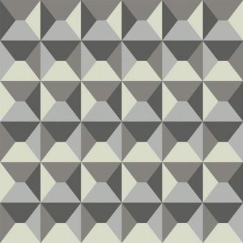 Tissu lin imprimé géométrique 150 cm