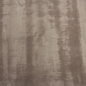 Tissu velours ras uni taupe 140 cm