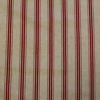 Toile rayée rouge 285 cm