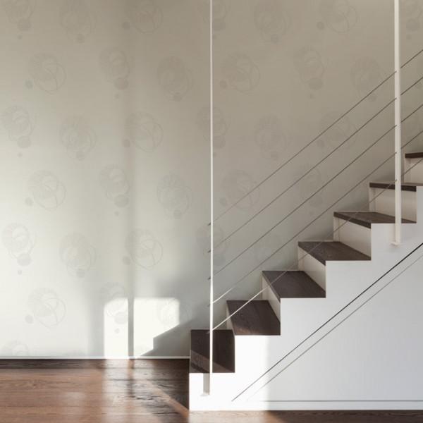 Papier peint intissé spirale blanc