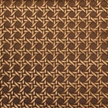 Tissu skaï bronze effet grillage 140 cm