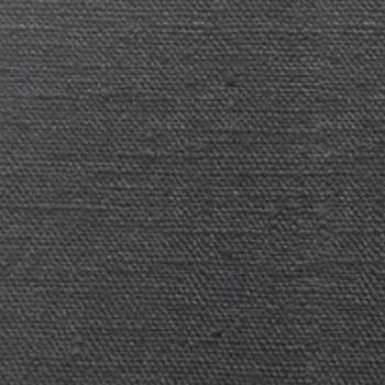 Tissu toile de lin lavé anthracite 145 cm