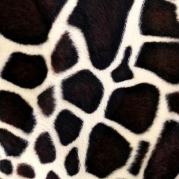 Tissu peau de bête girafe 150 cm