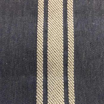 Tissu jacquard rayures bleues 280 cm