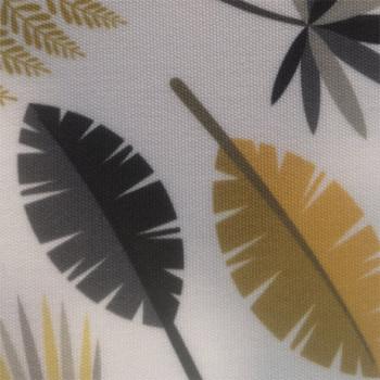 Toile transat végétal gris & jaune 160cm
