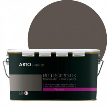 Peinture arto premium multi - supports murs, plafonds, boiseries, plinthes et radiateurs gris urbain velours 2,5 L
