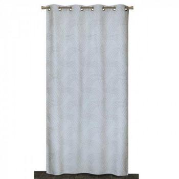 Rideau en tissu lourd jacquard gris