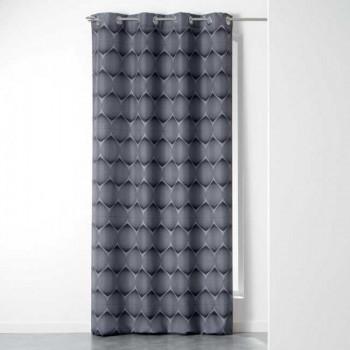 Rideau en tissu noirs à écailles