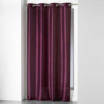 Rideau tissu violet prune
