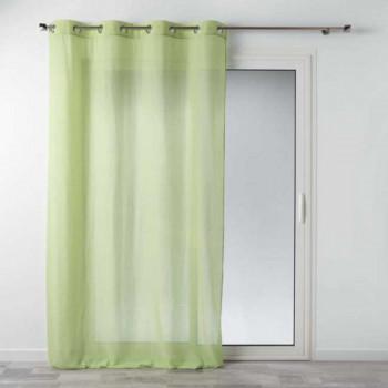 Rideau voilage coton vert
