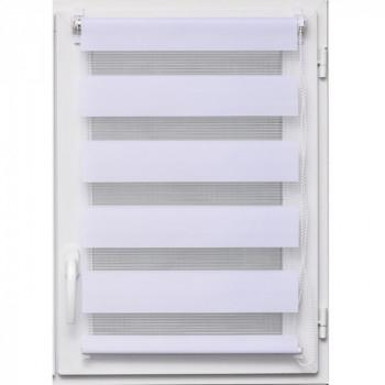 Store enrouleur lumière/nuit blanc 120 x 180 cm